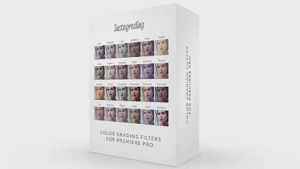 50个Instagram风格电影视频调色LUTs预设,40个原始颜色分级调色和10个额外颜色预设