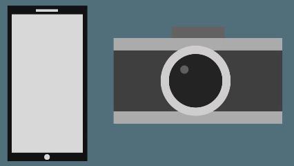 扁平化手机相机图像绘制